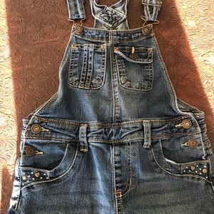 girls overalls size 7/8 worn once